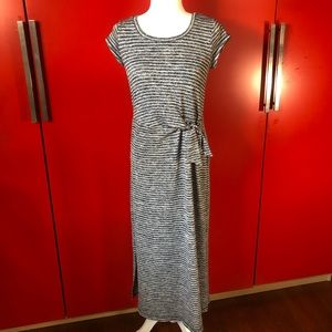 T by Talbots maxi dress striped stretchy jersey XS
